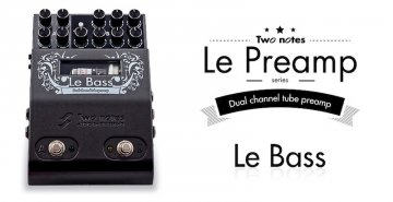 Two notes LeBass 2 Channel Tube Preamplifier Pedal
