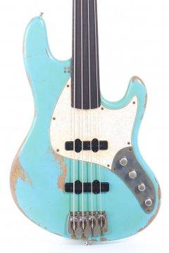 Sandberg California II TT-4 Fretless Roqueforte Blue Hard Core Masterpiece