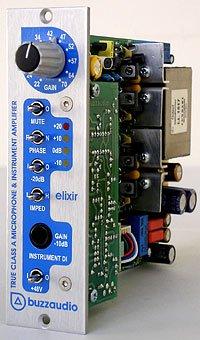 Buzz Audio Elixir 500 Series True Class A Microphone Preamplifier